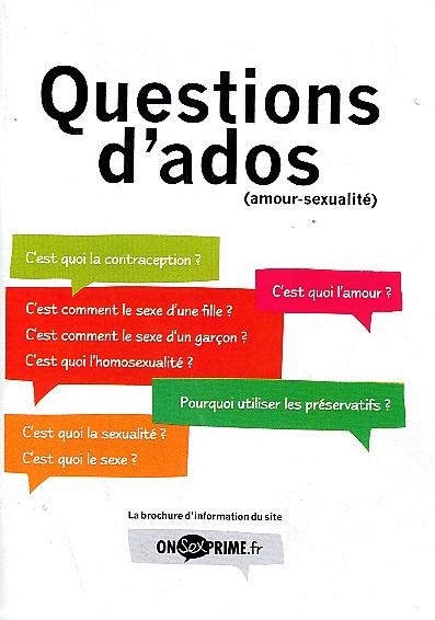 Livre - Questions d'ados (amour-sexualité)